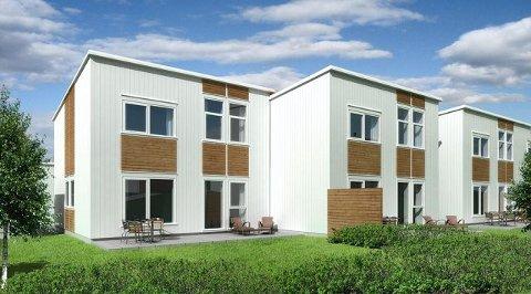 Det første som skal bygges i Moerhagen er 16 rekkehus.