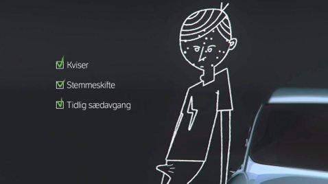 Statens Vegvesen vil bevisst stigmatisere unge gutter for å få ned dødstallene i trafikken. Her et bilde fra én av kampanjevideoene.