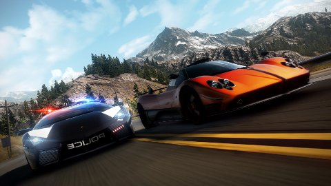 Tenk deg politiet satt opp med Bugatti Veyron eller Lamborghini Murciélago. Eller en Zonda. Det skjer i Need for Speed: Hot Pursuit