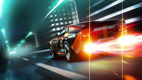 Ridge Racer fungere svært godt som 3D-spill og skaper stor innlevelse.