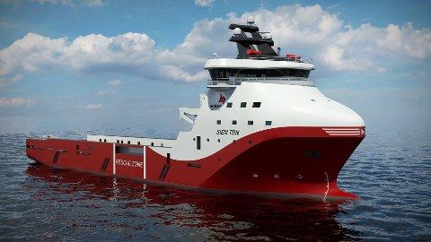 Slik vil det nye skipet se ut.