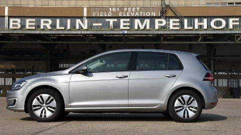 VW Golfs elvariant som kommer om et par måneder.