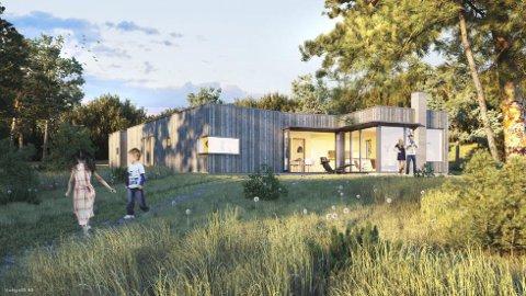 Egen strand: På Storesand på Oven planlegges hytter. De kan stå ferdige om et års tid.