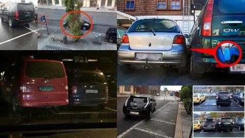 Her er noen eksempler på hvordan det ikke bør parkeres.