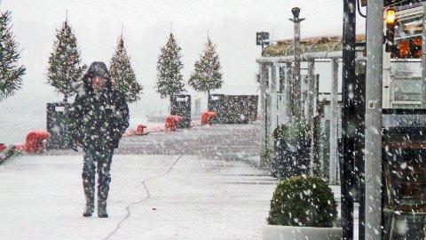 Litt julestemning på Brygga, torsdag.
