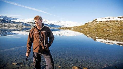 Fjellkar: Henrik Engelsviken sklir fint inn  som rallar i de gnistrende vakre omgivelsene på Finse. ALLE FOTO: tRINE sIRNES