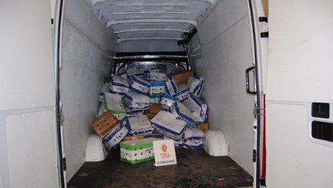 524 kilo khat pakket i esker ble funnet i 40-åringens bil.