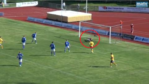 Omtrent 66 minutter ut i kampen skjøt Alvaro Baigorri MFK opp i ledelsen, med én mann mindre på banen.