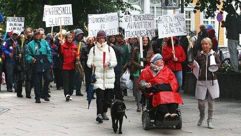 SamletAksjonen for å bevare akuttmottaket ved Moss Sykehus lover å øke innsatsen mot den planlagte flyttingen til Fredrikstad. Så langt er det samlet inn 2000 underskrifter. Foto: André Lia