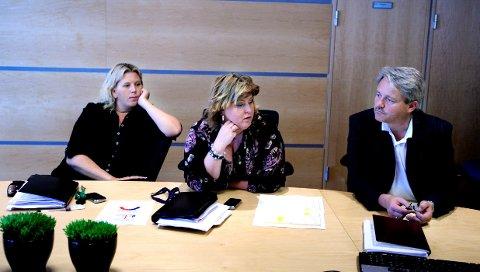 Over og ut Anita Vik (til venstre), Eva Kristin Andersen, Bjørnar Laabak og Arvid Vestvik har vært Frps profilerte firkløver de fire siste årene. Nå er det trolig bare Laabak som fortsetter som lønnet politiker. De tre andre går tilbake til sivile jobber. Arkivfoto: Erik Hagen