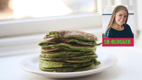 Spinat er både sunt og godt - og passer bra til pannekaker.