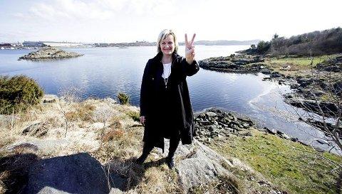 Grunn til å juble: Høyre og ordførerkandidat Aase Simonsen dobler oppslutningen om partiet på dagens partibarometer for Karmøy.