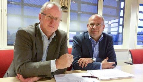 Rådmann Trond Wifstad og kommunalsjef Ivar Jostedt vil satse på færre og nyere bygg.
