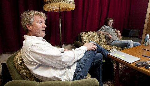 skisser: Vamp har hatt ti dager i ABC studio i Etne. Øyvind og Odin Staveland er nå klar for å plukke ut de sangene som skal være med på det nye albumet som slippes i oktober.
