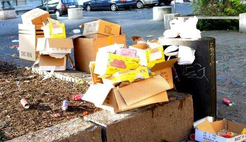 Nå kan du få bot dersom du kaster søppel i sentrum.