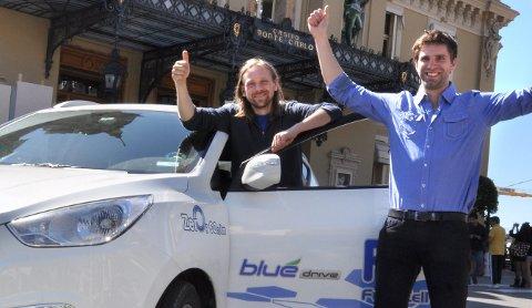Bjørnar Kruse og Marius Bornstein har som de første kjørt 2260 kilometer på hydrogen gjennom Europa.