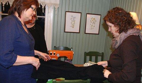 TIPS: Elisabeth Woldsengen fra Nes fikk tips for hva hun kan gjøre med en vel vidermet tunika.
