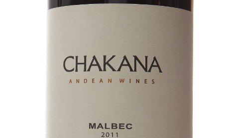 Chakana Malbec 2011. Argentina (Mendoza). Nr. 9628301. Kr 99,90.