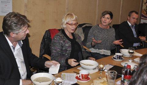 Fengselsmøte: Møtet foregikk på møterommet til Nopro torsdag ettermiddag.