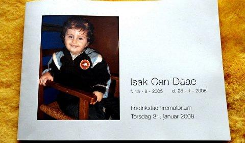 Isak Can Daae døde etter en mandeloperasjon ved sykehuset i Fredrikstad. Foto: Trond Thorvaldsen