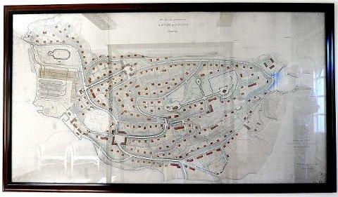 Kartet fra 1917 viser visjonen om å flytte Aker til Laksa i Son. FOTO: CHRISTIAN CLAUSEN