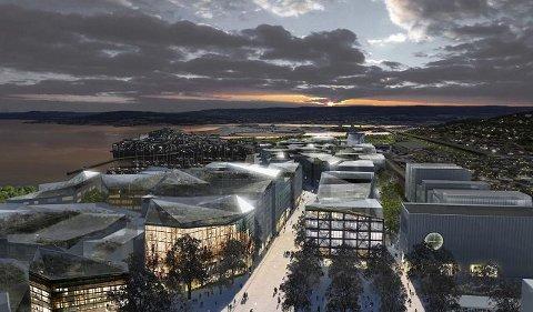 Illustrasjonen viser hvordan det danske arkitektfirmaet Entasis ser for seg at det kan være.