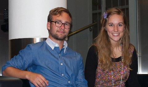 Vetle Bo Saga fra Ski og Ina Libak som studerer i Ås skal sammen styre Akershus Arbeiderpartis skute fremover.