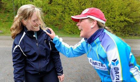 Både Silje-Marie Henriksen (til venstre) og Synnøve Frugaard er klare for å løpe Sandefjordsløpet lørdag. FOTO: OLAF AKSELSEN