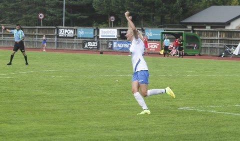 Synne Jensen sørget for begge Kolbotns scoringer i Harstad. ARKIV.