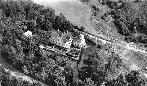 FLYFOTO: Av Villa St. Hallvard tatt i 1955. (Foto: Utlånt av Villa St. Hallvard).