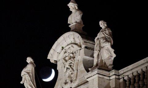 Nattestemning ved Plaza de Oriente.