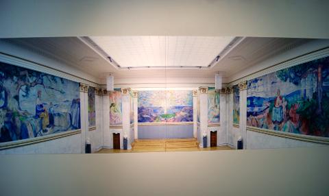 Et glimt fra Munch-utstillingen fra Alby.