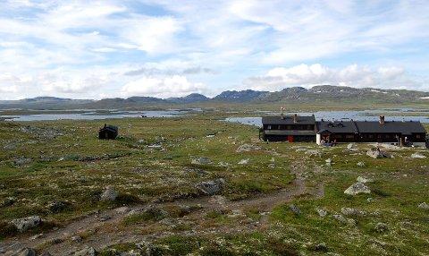 Sandhaug er en betjent DNT-hytte midt på Hardangervidda.