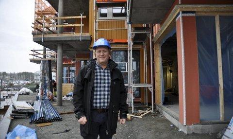 BAKERI: På dette hjørnet mot Meierihagen skal det bli mulig å få kjøpt nystekte brød, forteller Ola Risbråthe.