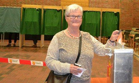 Birgit Myklemyr mener valgkampen har vært bra, og har ikke vært i tvil om hvilket parti hun skulle stemme på.