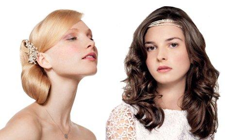 Velg en frisyre som passer kjolen og bryllupsstilen for øvrig.