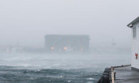 Storm: I kveld kan det igjen bli storm. Arkivfoto