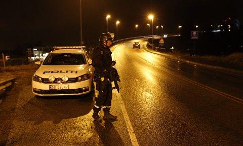 Bevæpnet politi ved Karmsund Bro