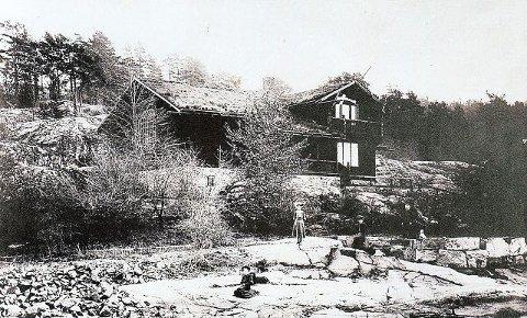 Eiendommen Skramstad fotografert i 1906
