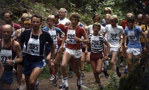 Mange valgte å delta i det populære Sun Shake-løpet i Drammen på 1980-og 90-tallet.