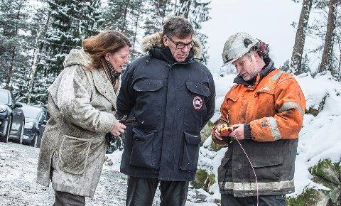 Ildri Eidem Løvaas og Stein-Erik Hagen fyrte tirsdag av den første salven. FOTO: CHRISTIAN CLAUSEN