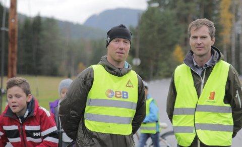 Utålmodige: Geir Klevstad (t.v.) og Birger Østby mener det haster med å få fartshumper. foto: stine L. Knudsen