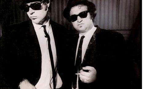 Kommer: The Original Blues Brothers band kommer til Notodden, spesielt for anledningen. Her John Belushi og Dan Aykroyd