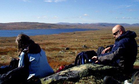 Rastepausene er noe av det beste med å gå på tur. Dette er fra Hardangervidda.