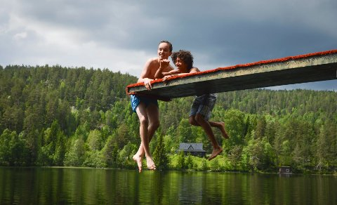 Testet: Det er ingen grunn til å vegre seg for å bade i Kongsberg Kommunes vann.
