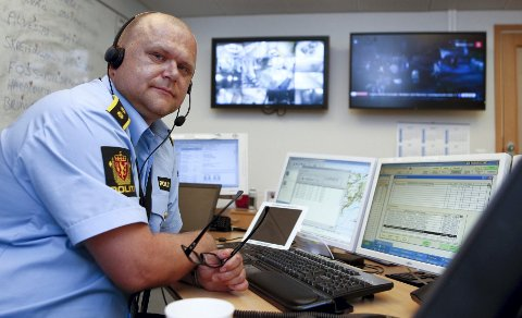 HAR VÆRT UTE EN VINTERNATT FØR: Jarle Utne-Reitan hadde og politiet hadde mye å gjøre i går. Arkivfoto: Jan Kåre Ness