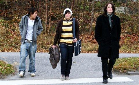 Ikke redde for å synesFra venstre: Juliane Andreassen, Martine Forsberg og Knut Gustav Ravn Valand SkjeklesætherFoto: Anne Mathilde Hagen Melkerud