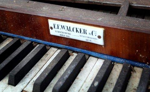 131-ÅRING: Orgelet er bygget av E. F. Walcker i Württemberg i 1876. Nå er det tilbake i Tyskland for restaurering. FOTO: BJØRN V. SANDNESS