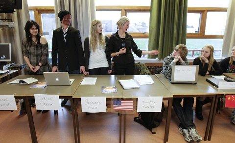 USA snakket til Kina: Fra v. Inger Marie Huse, Vidar Huseby, Tomine Vikse, Line Sofie Apeland, Dag Ruben Nordhus og Astrid Fagerthun Gunnarshaug.