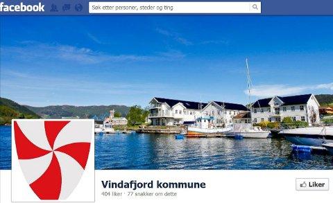 Andel snakker om: Vindafjord topper lista. Artikkelforfatteren har tatt gjennomsnitt av periodens antall snakker om og delt på antall som likte siden den 5. april 2013.